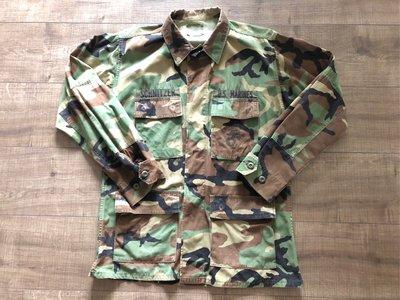 美軍公發 US MARINES BDU shirt 海軍陸戰隊 叢林迷彩 軍襯外套 MR