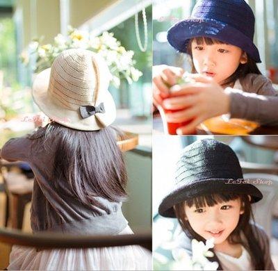 【小阿霏】親子草帽遮陽帽 女童棉紗蝴蝶...