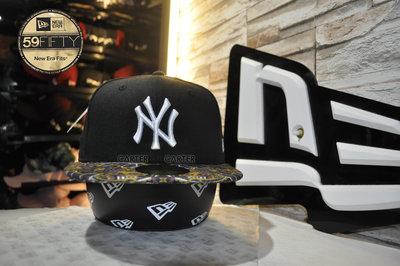 New Era MLB NY Yankees Purple Patter 59Fifty 紐約洋基帽簷圖騰全封棒球帽