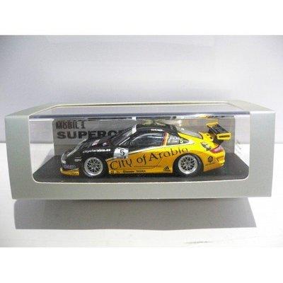 SPARK 1/43 PORSCHE 997 GT3 CUP PORSCHE MOBIL 1 SUPERCUP 2008 #5