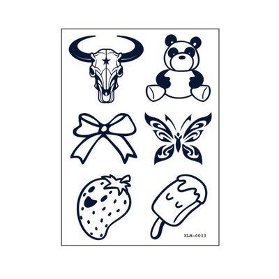 【萌古屋】草莓冰棒符號 - 半永久果汁紋身微刺青14天擦不掉紋身刺青XLM-033 K61