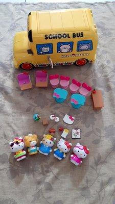 【紫晶小棧】凱蒂貓校車巴士 HELLO KITTY SCHOOL BUS 【高雄可自取】玩具 人物