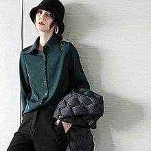 『 筱涵 日系美學衣飾 』乍看很普通 上身驚艷顯瘦秋冬款式小尖領長袖襯衣