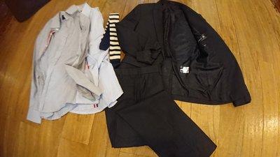 Plain Me Plainme TJ1206深灰色 成套西裝 上班 逛街 單搭 全年款 單開衩 贈送襯衫領帶