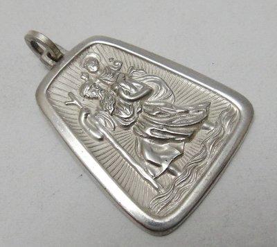 【timekeeper】  1968年英國製Birmingham伯明罕聖克里斯多福純銀墜子(西洋護身符/平安符)(免運)