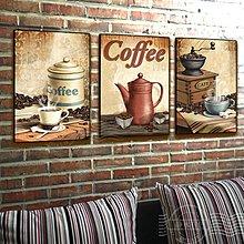 現代餐廳西餐廳裝飾畫複古掛畫咖啡廳無框畫牆畫另類酒店壁畫防水(3款可選)