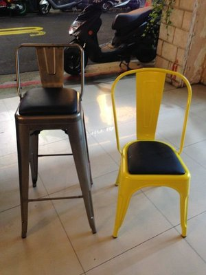 【 一張椅子 】 tolix chair  法國工業風軟墊鐵椅,復刻品