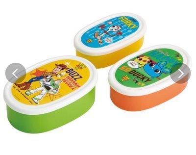 (現貨)日本製 聚丙烯 總共860ml (3合1) 椭圓形 餐盒 Disney Toy story4 反斗奇兵4 巴斯光年 小叉 玩具總動員 日本直送 全新品