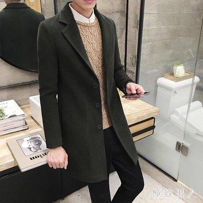 長風衣 韓版修身超長風衣男 秋冬季青年加絨加厚長衣學生中長款妮子外套 LN3846