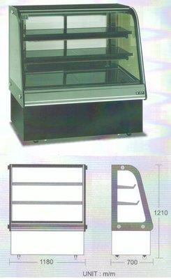 瑞興 彎玻璃蛋糕展示櫃 / 蛋糕冷藏展示櫥 / 營業用蛋糕冷藏展示櫃