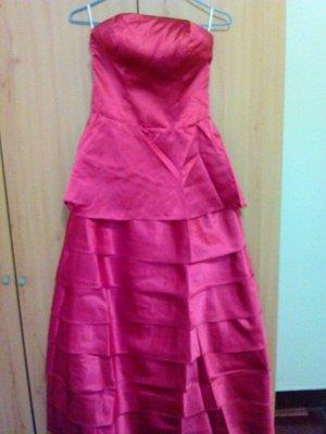 天使佳人婚紗禮服量身定做~~~~~~酒紅色蛋糕裙