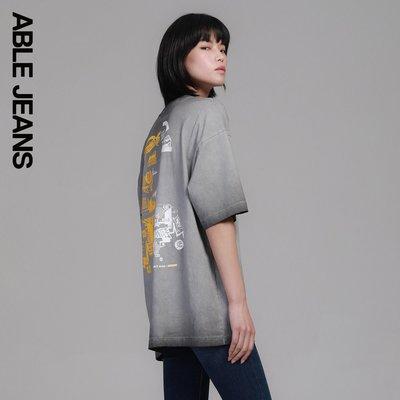ABLE JEANS休閑春季男女小黃人聯名款中性風男女款短袖T恤781004小黃人周邊