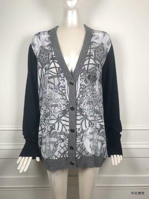 [我是寶琪] SWASH LONDON 絲巾拼接針織外套