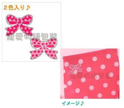 【寵愛物語包裝】日本進口 復古圓點 蝴蝶結 紅點點 可愛 禮品 貼紙 100入 日本製