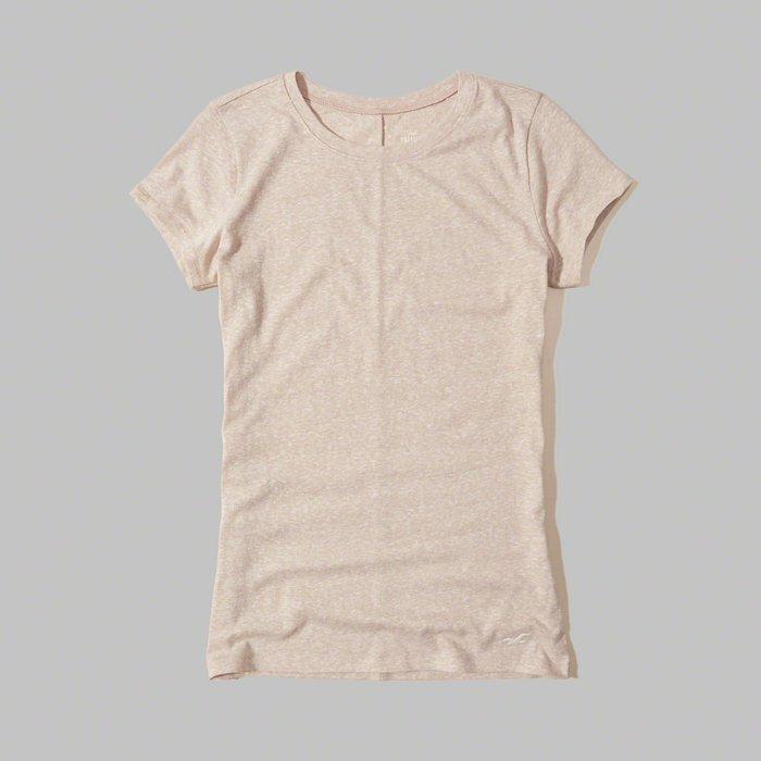 【HOLLISTER Co.】【HCO】HC女款短袖素T左下白鷗杏 F01170512-14