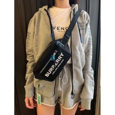 正品二手《精品 》Celine big bag Burberry 80146031 中性款標誌印花尼龍腰包