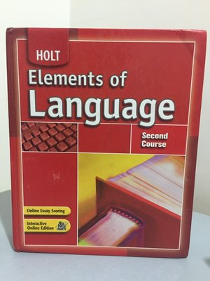 F7-1《好書321KB》Holt Elements of Language Second Course/大專用書