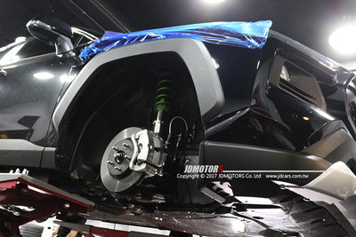 JD-MOTORS 底盤操控專家 黃金懸吊配比 Triple S高性能倒插避震器 TOYOTA RAV4