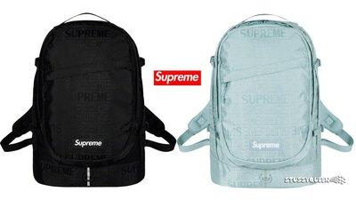 【超搶手】全新正品2019 SS 春夏Supreme backpack 46代 46TH  滿版LOGO後背包 黑紅藍綠