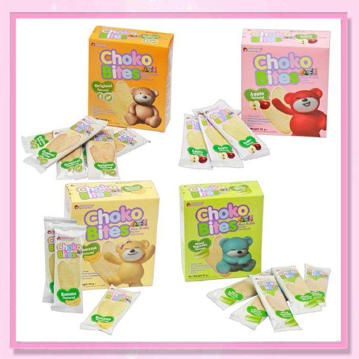 <益嬰房>choko 俏果米餅 四種口味可選 (原味/蘋果/香蕉/蔬菜)6M+ 寶寶米餅