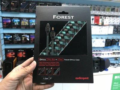 禾豐音響 1.5m 3.5mm-F Audioquest Optical Forest 光纖線 圓-方 公司貨