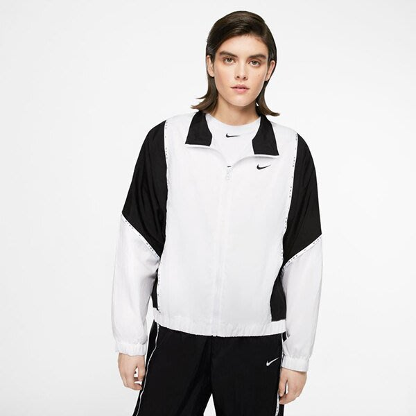 GOSPEL【NIKE NSW 】復古 寬袖 短版 立領 女款 CJ3686-100