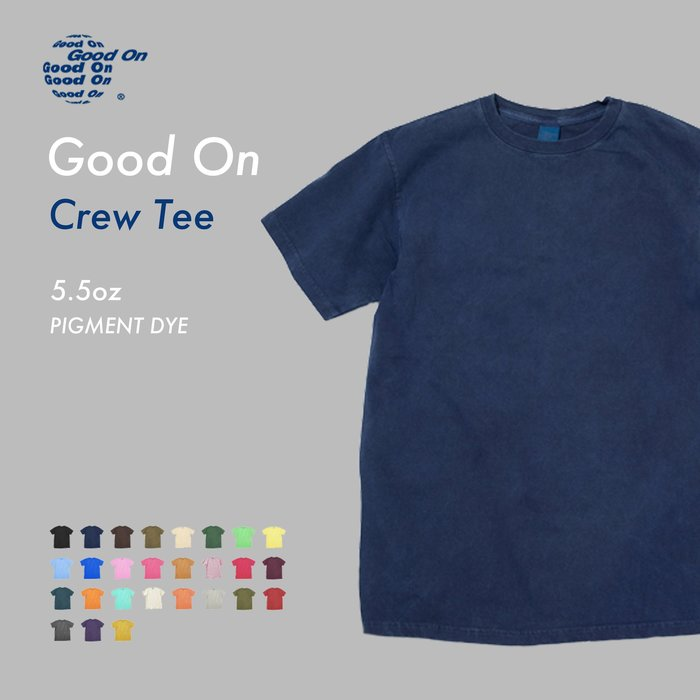 WaShiDa【GOST-701P】Good On 日本品牌 染色 5.5 oz 美國棉 素面 短袖 T恤- 現貨、預訂