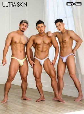 [性感裸比] GX3 Ultra-Skin高衩夢幻小三角褲三件組1100元(全館滿千現折100元)K1245 現貨