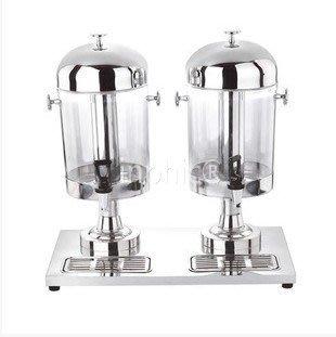 INPHIC-豪華不鏽鋼雙頭果汁鼎 冷飲機 自助餐必備 酒店用品