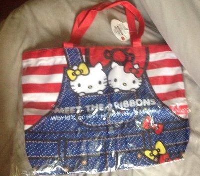 全新kitty雙胞胎補習袋購物袋