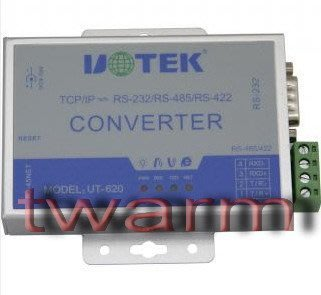 《德源科技》r)UT-620 10/100M TCP/IP到RS232/RS422/RS485轉換器(原廠總代理)