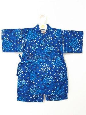 ✪胖達屋日貨✪ 褲款 110cm 藍底 水紋 櫻吹雪 日本 男 寶寶 兒童 和服 浴衣 甚平 抓周 收涎 攝影