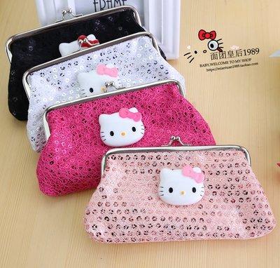 Hello Kitty卡通零錢包可愛小錢包迷妳硬幣包搭扣收納包女錢包長款