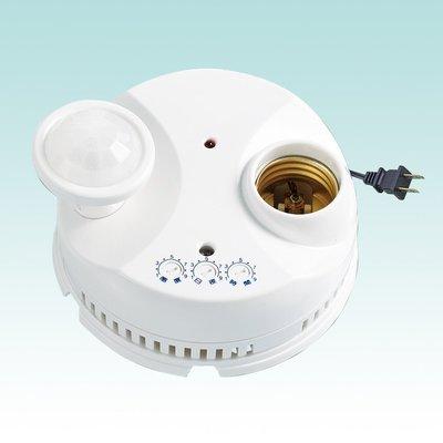 W生活館 台中 伍星牌 WS-5352 靜音二號 DIY 自動感應燈座  360度紅外線 吸頂式感應燈座 台灣製