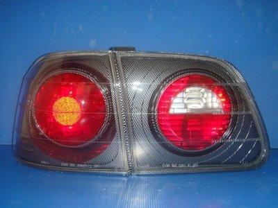 小亞車燈╠ 全新 喜美 K8 99 年 4門 JM 黑框 尾燈 特價2200元