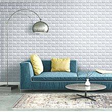 壁貼 加厚隔音防撞 3D浮雕仿磚紋 防水 防霉 防撞 防污 仿石壁 自黏背膠 牆壁整修