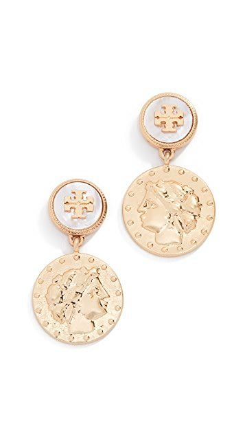 【全新正貨私家珍藏】TORY BURCH Coin Short Drop Earrings  耳環/耳釘