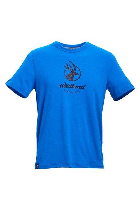 Wildland 荒野 男彈性印花經典抗UV上衣 圓領TEE 圓領上衣 運動上衣 運動排汗衣 排汗T恤 0A71630