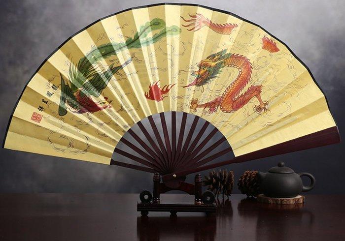 中國風高檔絹布折扇 10吋(part-3)