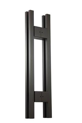 『YT五金』大門把手 CY-K953 孔距 275mm 白鐵色 黑色 大把手 室內外把手 簡約風格 雙條把手 推拉門