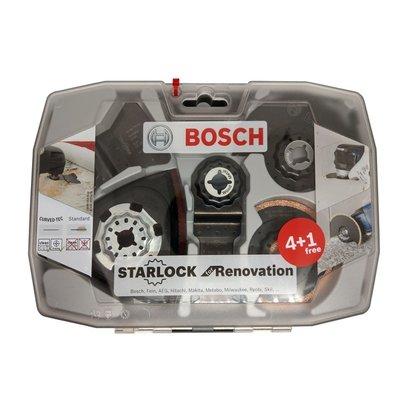 【含稅】 德國BOSCH 博世 裝修4+1套裝組 5件式魔切機配件 鋸片 切磨機 室內衛浴裝潢 2608664624