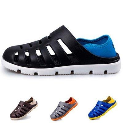 Ovan 夏日玩水必備 男款兩穿式沙灘洞洞鞋 防滑休閒涼鞋 拖鞋