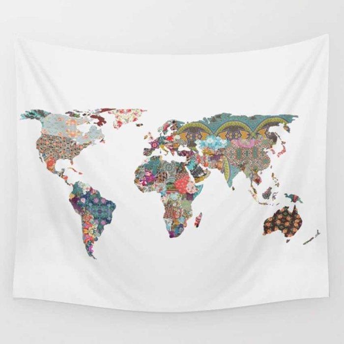 背景布 掛布 墻壁掛飾 背景墻 掛毯 北歐ins掛布補丁彩地圖客廳床頭墻面背景裝飾墻布美式墻掛巾桌布