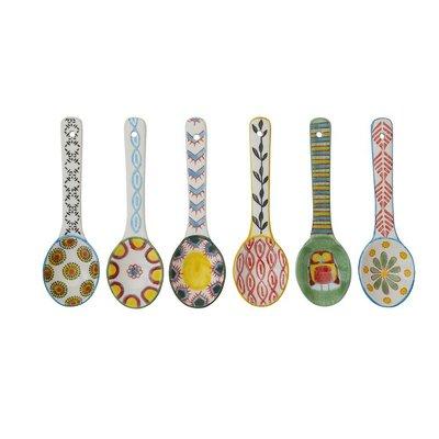 【Eze Art Deco】美國設計師傢飾,『小號』手繪陶瓷勺子,六款 攪拌匙/小匙/造型湯匙/勺子 裝飾/擺飾/餐具
