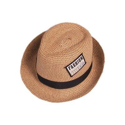 哆啦本鋪 夏季寶寶兒童遮陽防曬漁夫帽男童草帽夏天13歲男2薄款帽子潮涼帽 D655