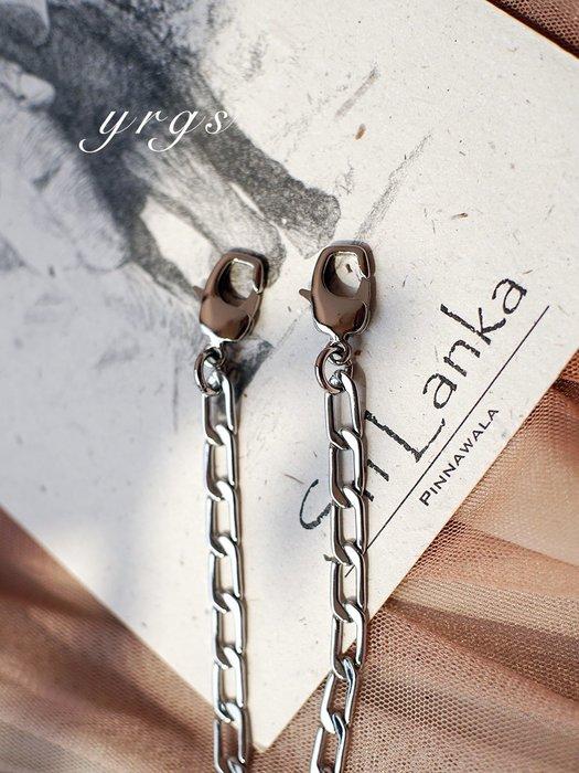 淘淘樂-【一人故事 】安娜同款復古clasp夾子包包配件細斜挎銅鏈子包鏈條