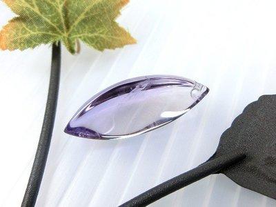 □§Disk的天然水晶§□【稀有珍藏】寶石級紫水晶雙尖葉形切面墜GL-09-~全館滿千9折+超取免運