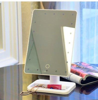 led 智能 化妝鏡 方便 上妝 附電池