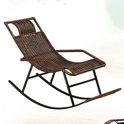 【優比傢俱生活館】19 便宜購-黑色PVC休閒籐編織搖椅/休閒椅/躺椅 SH841-2