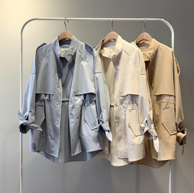 莎芭 風衣外套 女短款外套 韓版 學生寬松外套